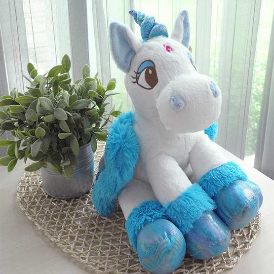 Unicorn ตุ๊กตาม้ายูนิคอร์น สีฟ้า 12 นิ้ว
