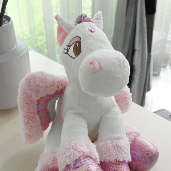 Unicorn ตุ๊กตาม้ายูนิคอร์น สีชมพูอ่อน 12 นิ้ว