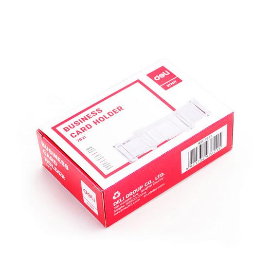 Deli 7621 กล่องใส่นามบัตรแบบใส 105x65 มม.