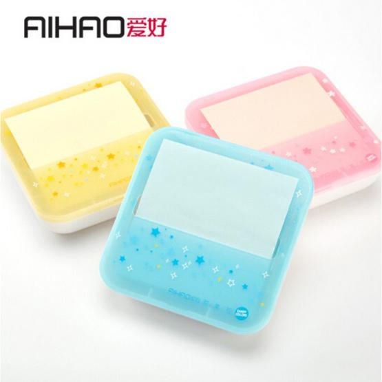 Aihao 66741 กระดาษโน๊ตแบบกล่อง 3x3 นิ้ว 100 แผ่น (คละสี1ชิ้น)