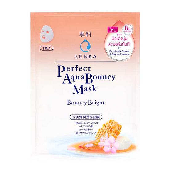 Senka แผ่นมาส์กหน้า Pefect Aqua Bouncy Mask Bouncy Bright 1 แผ่น