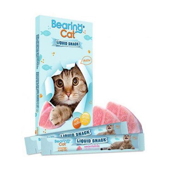 Bearing แคท ลิควิดสแนค ขนมแมวเลีย 15 กรัม รสปลาโอโทโร่ 8แถม3