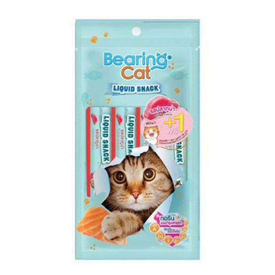 Bearing แคท ลิควิดสแนค ขนมแมวเลีย 15 g. รสทูน่า 4แถม1