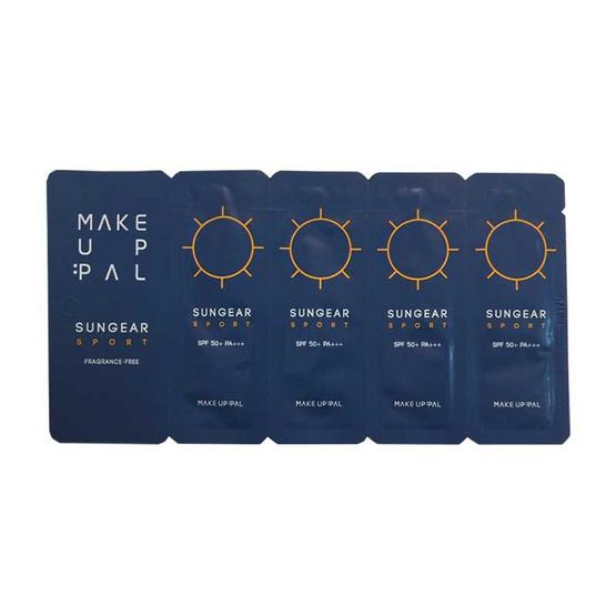 Make Up Pal ครีมกันแดด ซันเกียร์ สปอร์ต SPF50+ PA+++ 2 มล.(5 ซอง)