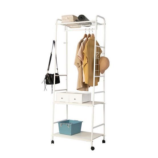 Shopsmart ชั้นจัดเก็บพร้อมราวแขวน รุ่น D.I.Y.4 (Pure White) 20785