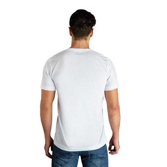 Double Goose ตราห่านคู่ เสื้อคอวี สีขาว รุ่น Classic ไซส์ L ซื้อ 1 แถม 1