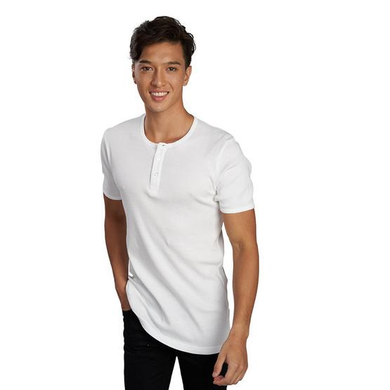 Double Goose ตราห่านคู่ เสื้อ Henry Kool Cotton สีขาว Pack 1