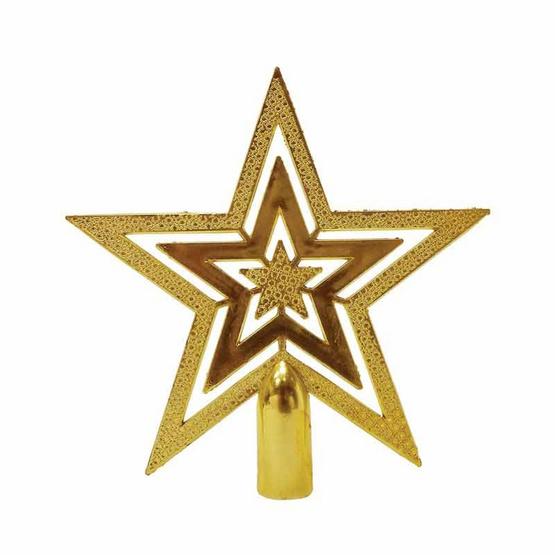 ดาวประดับยอดต้นคริสมาสต์ สีทอง 10 cm. [6111-02(10 cm.)]