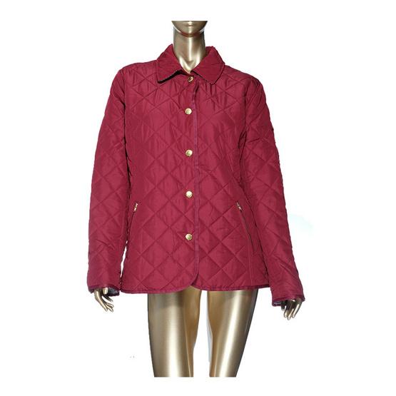 เสื้อกันหนาวกระดุมผ่าหน้า สีแดง