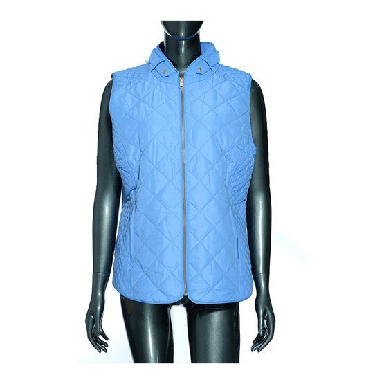 เสื้อกั๊กซิปยาว สีฟ้า