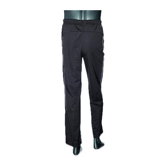 กางเกงวอร์มขายาว สีดำแถบขาว