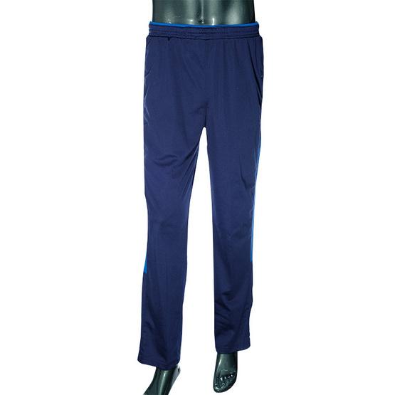 กางเกงวอร์มขายาว สีกรมแถบน้ำเงิน