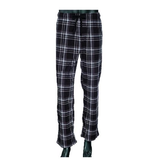 กางเกงนอนผ้าสำลีลายสก๊อตสีดำ