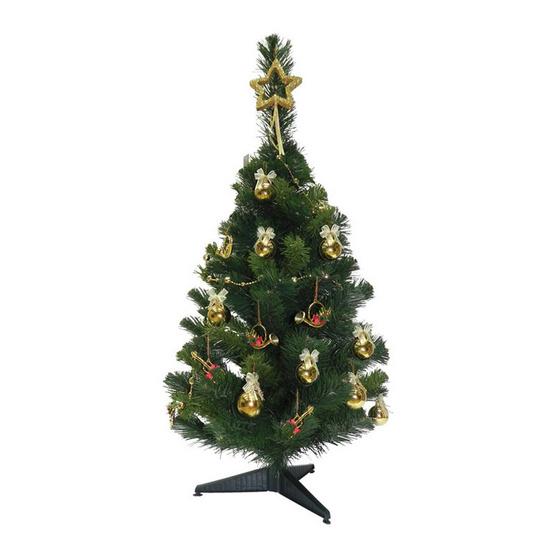 ต้นคริสมาสต์ 3 ฟุต [13014-1(3 Ft.)] ตกแต่งพร้อม