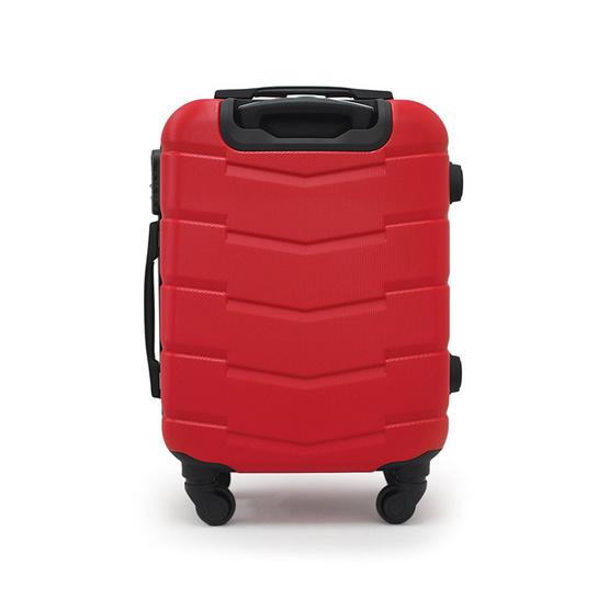 HQ LUGGAGE กระเป๋าเดินทาง ABS 20 นิ้ว 4 ล้อ รุ่น BAGIA 8827 (สีแดง)