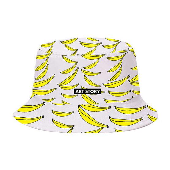 หมวกปีก ลายรอบ โลโก้กล้วยกราฟฟิก