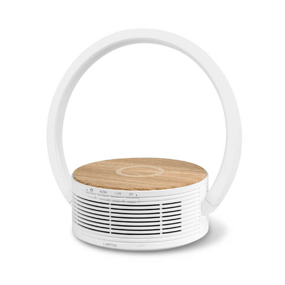 Lamptan Smarthome โคมไฟ Led ลำโพง Bluetooth และ แท่นชาร์จไร้สาย รุ่น Loop