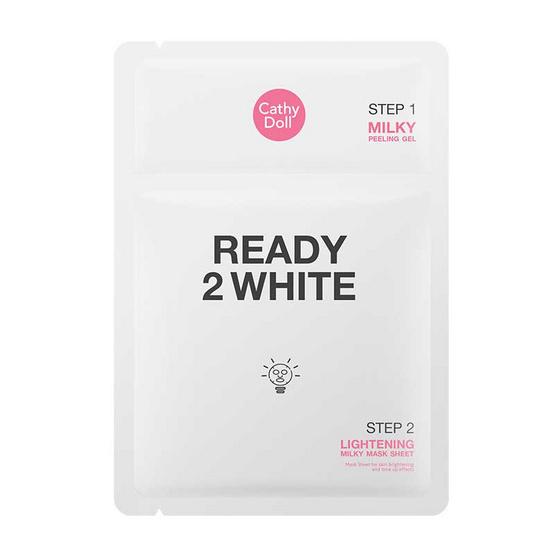 Cathy Doll มาส์กแผ่น Ready 2 White Lightening Milky 3.5 มล. + 25 กรัม