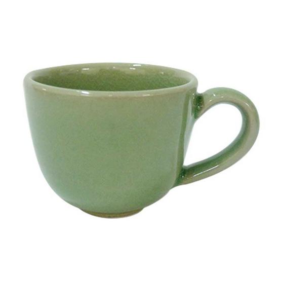 ชุดกาน้ำชาแพรวาเล็ก แก้วชามีหูจับเล็ก ถาดรองเล็ก