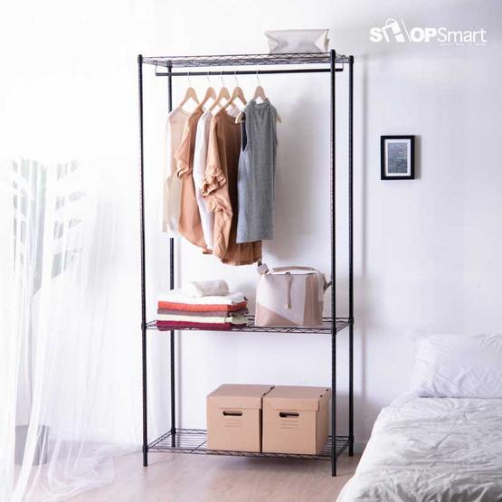 Shopsmart ชั้นวาง+ราวแขวนผ้า TW233 21714