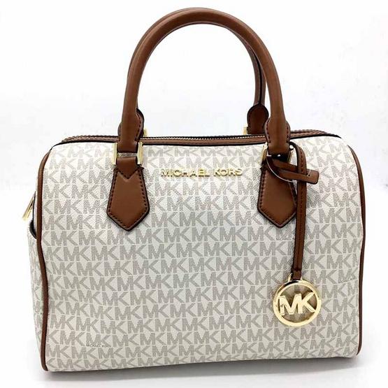 กระเป๋า Michael Kors 35F9GBFU3B Monogram Blended Fabrics 2WAY Plain Elegant Style Handbags (VANILLA) [MC35F9GBFU3BVANILLA]