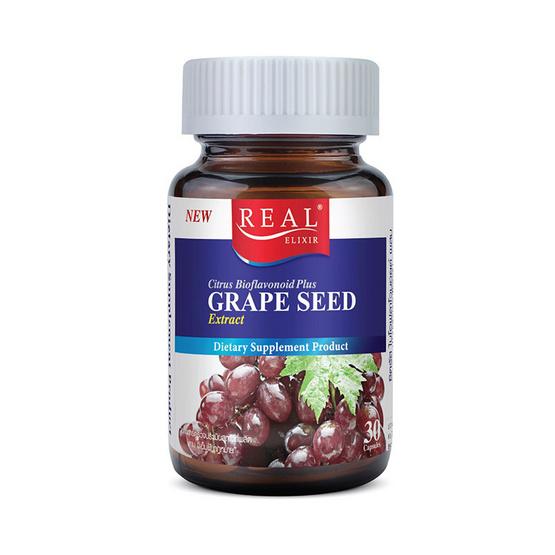 Real Elixir เกรปซีด (สารสกัดเม็ดองุ่น) บรรจุ 30 แคปซูล
