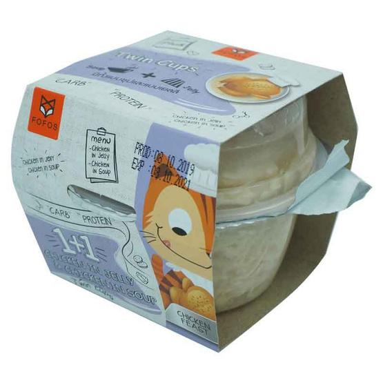 FOFOS  ไก่ในเยลลี่ 80 กรัม / ในน้ำซุป 40 กรัม