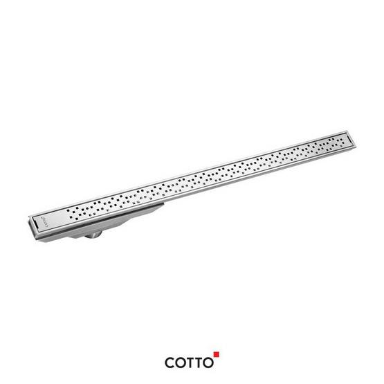 COTTO  รางน้ำทิ้งกันกลิ่นหน้าแคบพิเศษสำหรับท่อพีวีซีขนาด 2.5 นิ้ว (หน้าแปลน 5 ซม. X 100 ซม.)