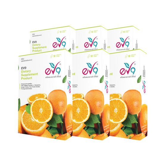 EV9 อีวีไนน์ ผลิตภัณฑ์เสริมอาหาร แพ็ค 6 กล่อง (10 แคปซูล/กล่อง)
