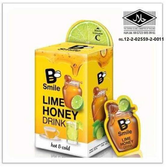 บี-สไมล์ น้ำผึ้งผสมน้ำมะนาวชนิดเข้มข้น แพ็ก10ซอง