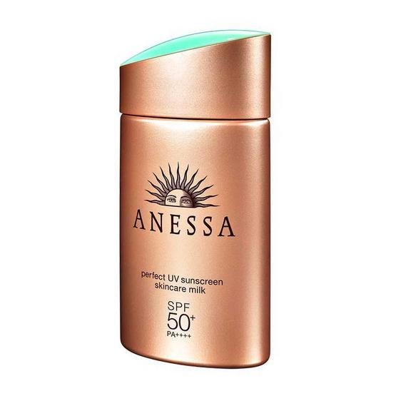 Anessa ครีมกันแดด Perfect UV Sunscreen Milk 60 มล. แถมฟรี travel set