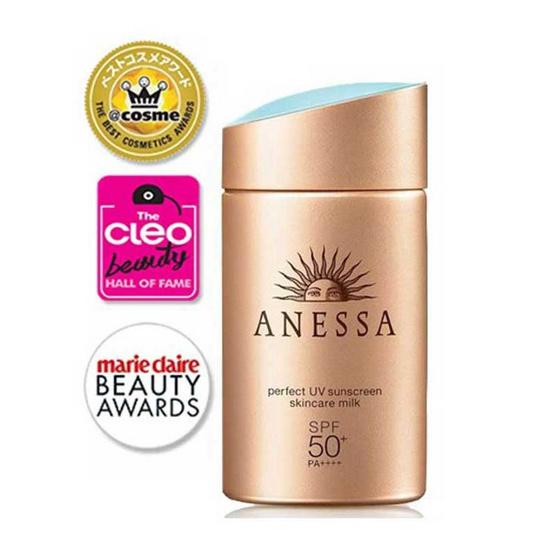 Anessa ครีมกันแดด Perfect UV Sunscreen Milk 60 มล. แถมฟรี Senka 5 mini whip foam