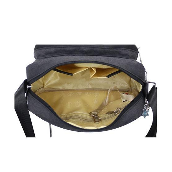 Huskies กระเป๋าสะพายแฟชั่น รุ่น HK02-752 BL สีดำ