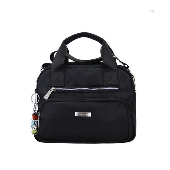 Huskies กระเป๋าสะพายแฟชั่น รุ่น HK02-756 BL สีดำ