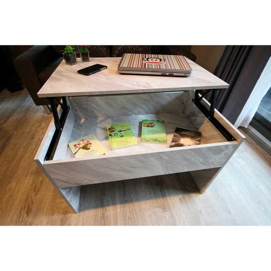 Datahomeproducts โต๊ะกลางยกปรับระดับลายหินอ่อน รุ่น MD642