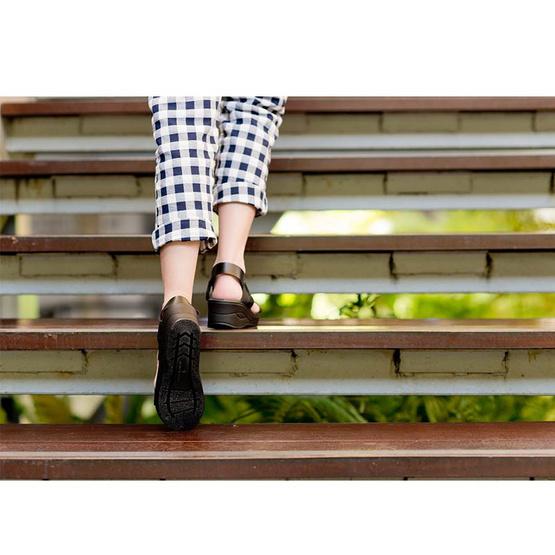 ActYoung Cocoro รองเท้ารัดส้นเพื่อสุขภาพ รุ่น Black Strap Size L
