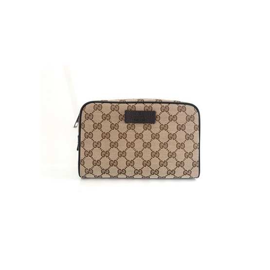 GUCCI ORIGINAL GG BELT BAG (BEIGE/EBONY) [MC449174KY9KN9886]