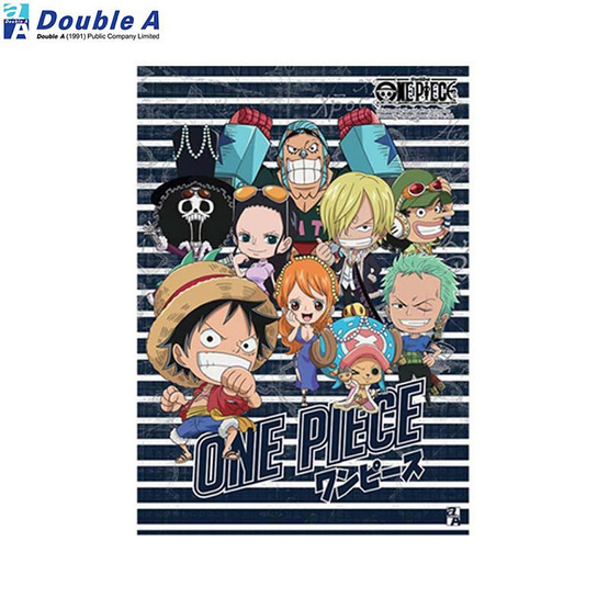 Double A สมุดรายงาน A4 70แกรม 25แผ่น คละลาย One Piece Pirate (แพ็ค4เล่ม)