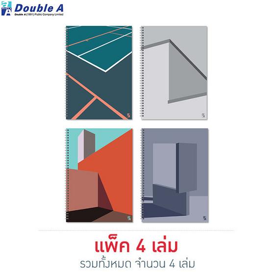 Double A สมุดสันห่วงMonthly Planner A4 คละลาย Structure (แพ็ค4เล่ม)