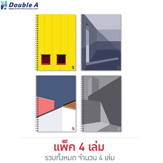 Double A สมุดสันห่วงMonthly Planner A5 มีเส้น คละลาย Structure (แพ็ค4เล่ม)