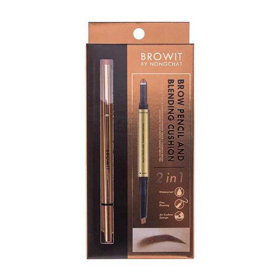 Browit ดินสอเขียนคิ้ว Brow Pencil And Blending Cushion 0.16 + 0.45 กรัม