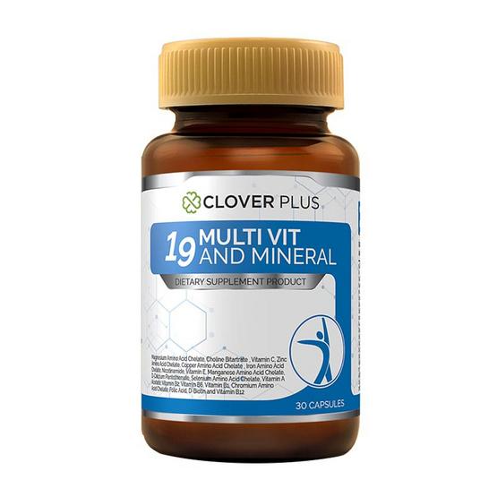 Clover Plus ไนน์ทีน มัลติวิต แอนด์ มิเนอรัล 30 แคปซูล 1 ขวด
