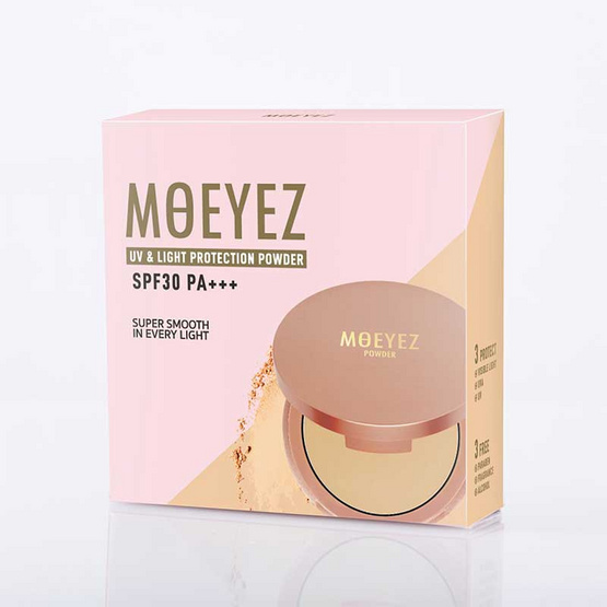 Moeyez แป้งผสมรองพื้น UV & Light Protection Powder SPF 30 PA++ 10 กรัม