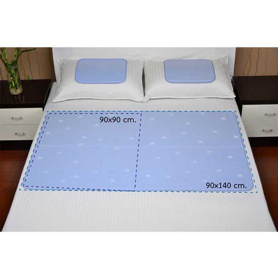 HIRAKAWA แผ่นรองนอนเย็น Cool Gel Mat สีฟ้า