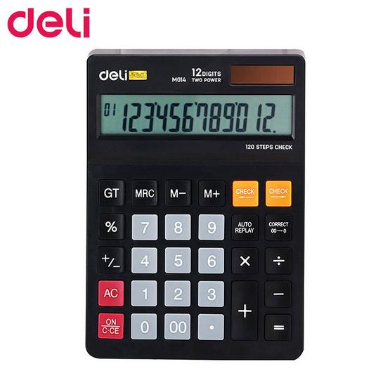 Deli M01420 เครื่องคิดเลขตั้งโต๊ะ 12 หลัก