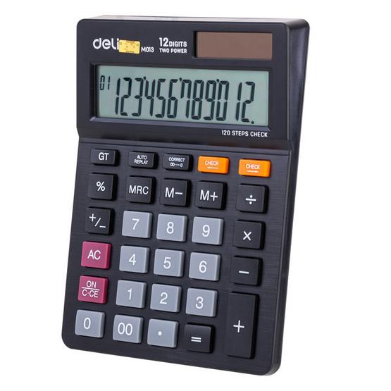 Deli M01320 เครื่องคิดเลขตั้งโต๊ะ 12 หลัก