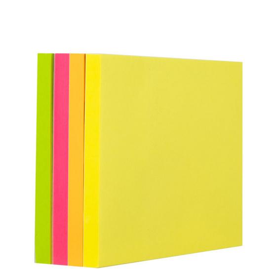 Deli A03003 กระดาษโน๊ตกาว3x3นิ้ว 400แผ่นต่อแพ็ค (คละสี)