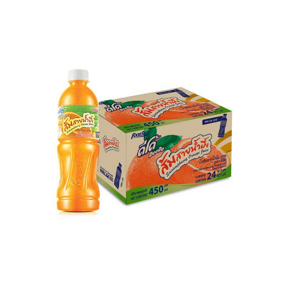 ดีโด้ น้ำส้มสายน้ำผึ้ง 450มล. (ยกลัง 24 ขวด)
