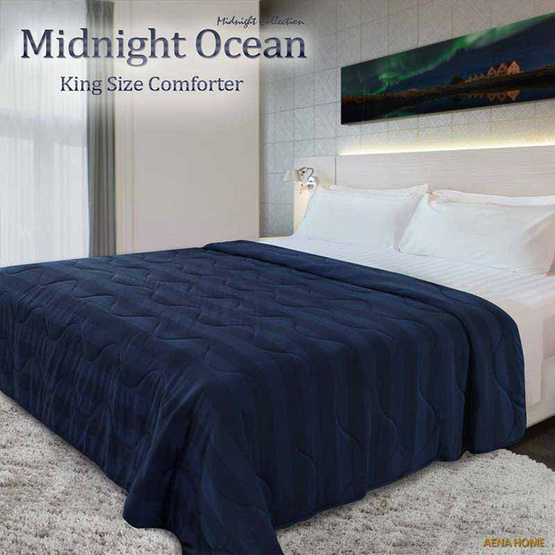 "Aena ผ้าห่มนวม Midnight Ocean 80""x100"""