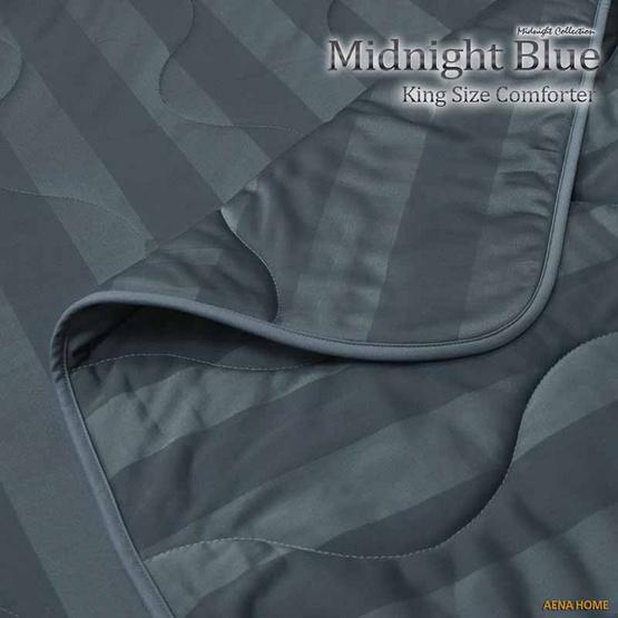 """Aena ผ้าห่มนวม Midnight Blue 80""""x100"""""""